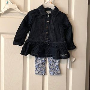 NWT Calvin Klein long sleeve outfit in size 12m